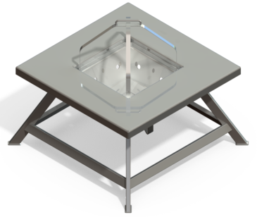 Steel Fire Pit Table Design + Drawing Download