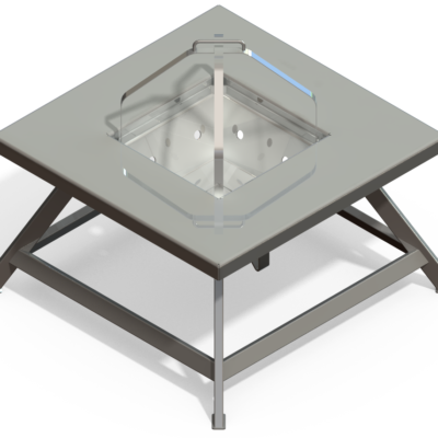 Fire Pit Table Rendering, Design by Kris Bunda, SolidWorks 2009, Created 2011