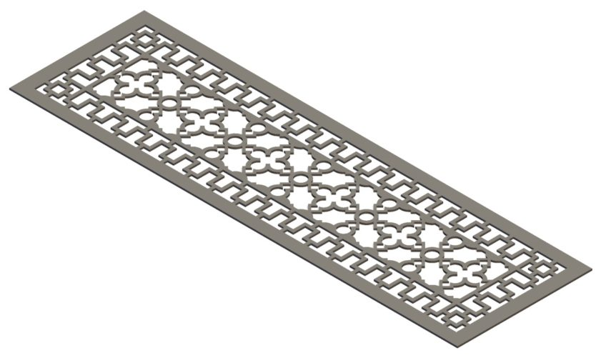 Modern Antique Style Vent Cover - 3D CAD Rendering