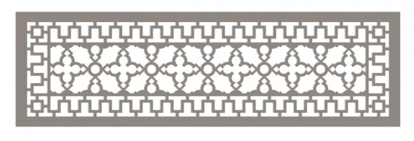 Modern Antique Style Vent Cover - 3D CAD Rendering - Top View
