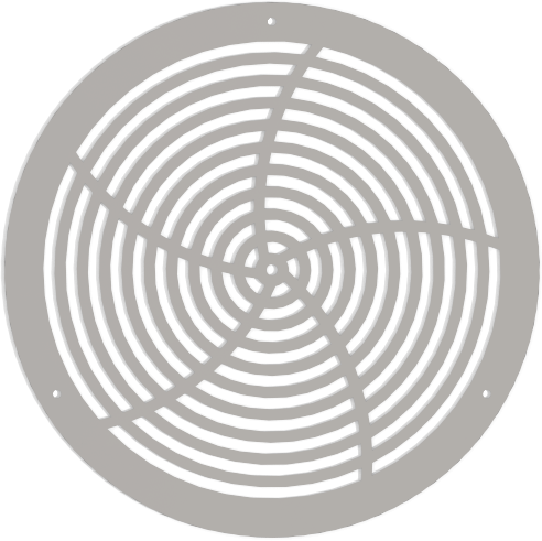 Round Decorative Vent Cover - Custom Design - Star 1