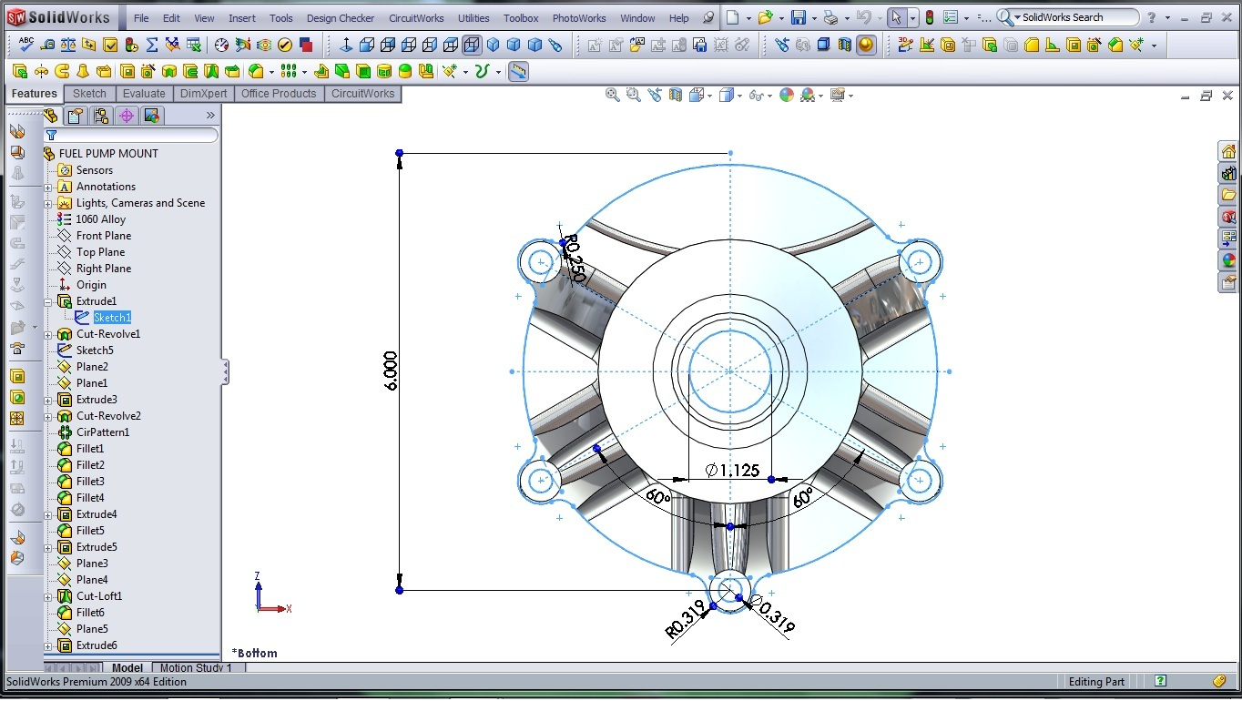 3d Cad Modeling A High Performance Engine Part How To Designer Solidworks Wire Diagram Finished Model Fuel Pump Mount 1
