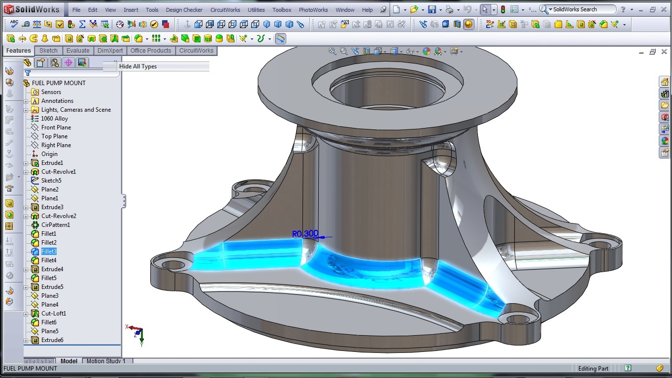 3d Cad Modeling A High Performance Engine Part How To Page 3 Diagram Solidworks Fuel Pump Mount 15