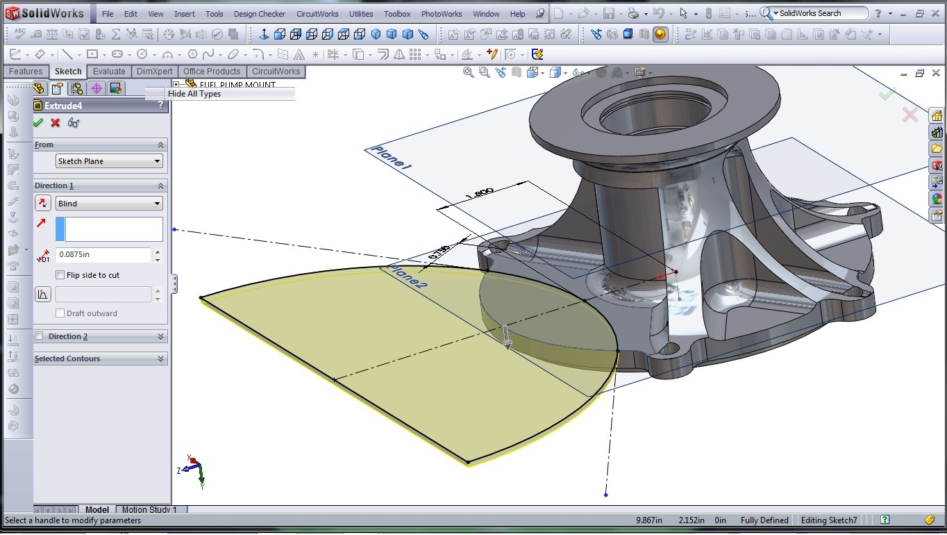 3d Cad Modeling Solidworks High Performance Engine Part Fuel Diagram Pump Mount 18