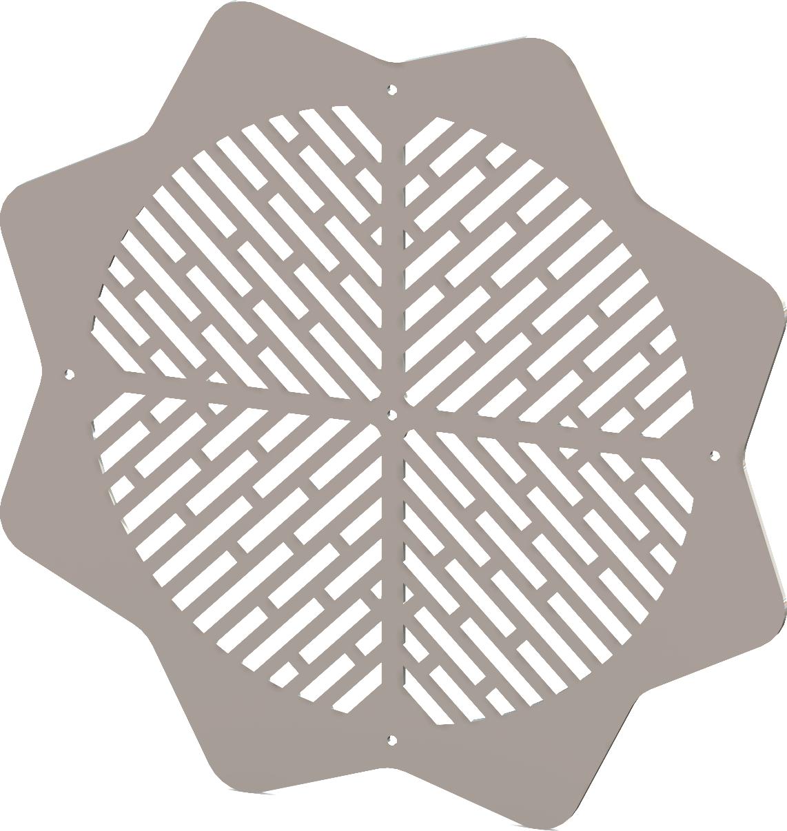Round Decorative Vent Cover - Custom Design - SunRays