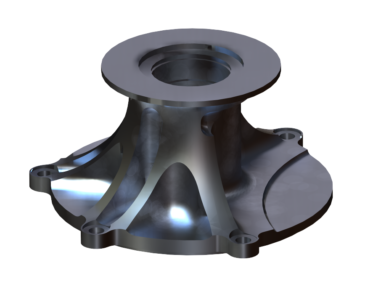 Fuel Pump Mount - Rendering - Aluminum Alloy