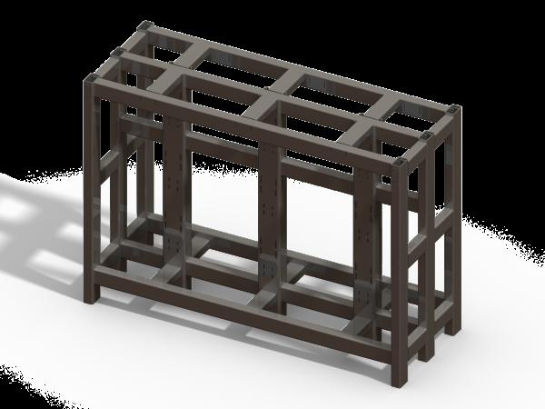 U-Bolt Cart - No Racks - Designed in SolidWorks - Kris Bunda