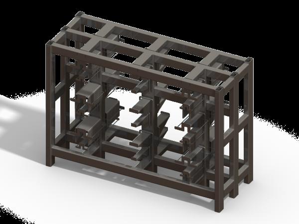 U-Bolt Cart - With Racks - Designed in SolidWorks - Kris Bunda