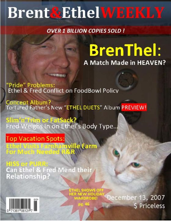 Magazine cover-Brent&EthelWEEKLY-Brenthel Issue
