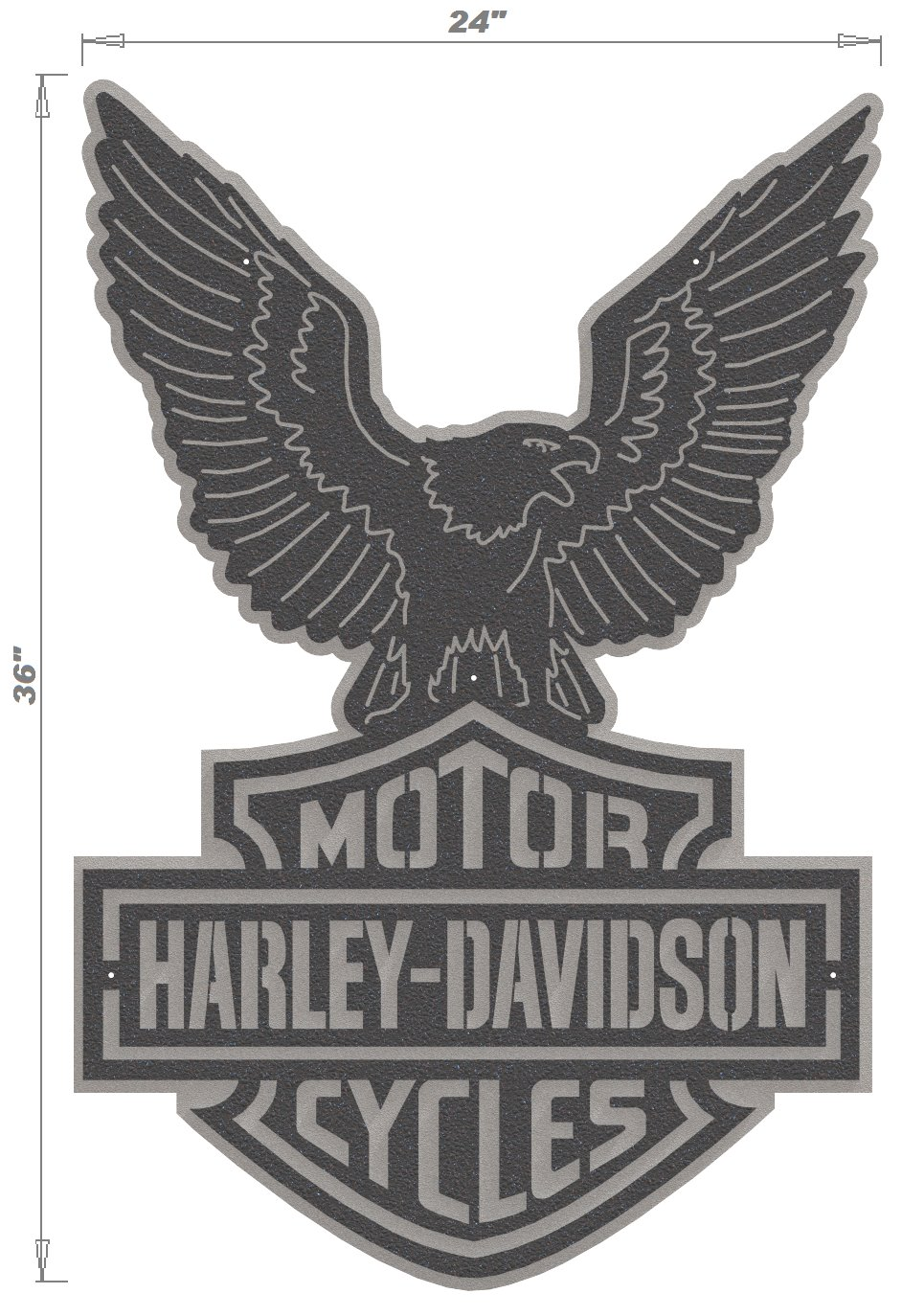 Harley davidson logo eagle 2 piece steel wall decoration 2