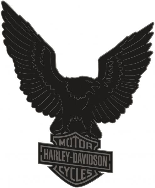 Harley Davidson Logo & Eagle - 2 Piece Steel Wall Decoration 3