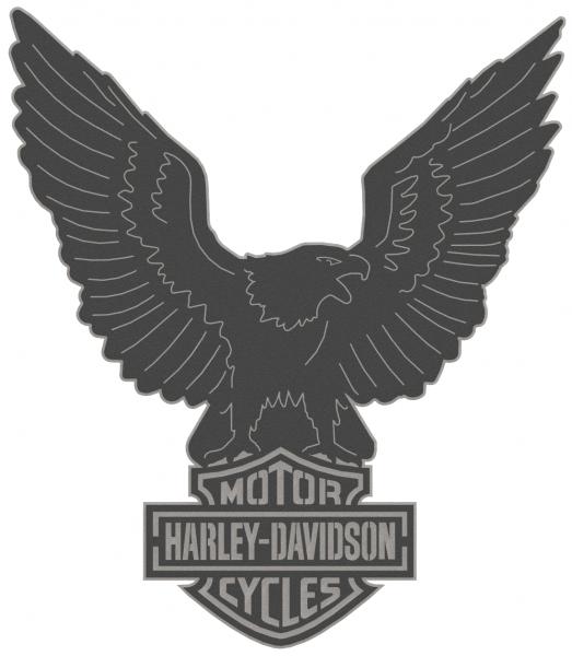 Harley Davidson Logo & Eagle - 2 Piece Steel Wall Decoration 4