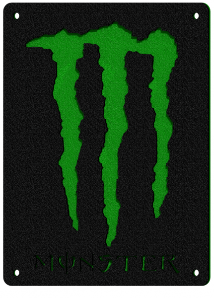 """CAD rendering for a """"Monster Energy Drink"""" themed 4 wheeler's bumper"""