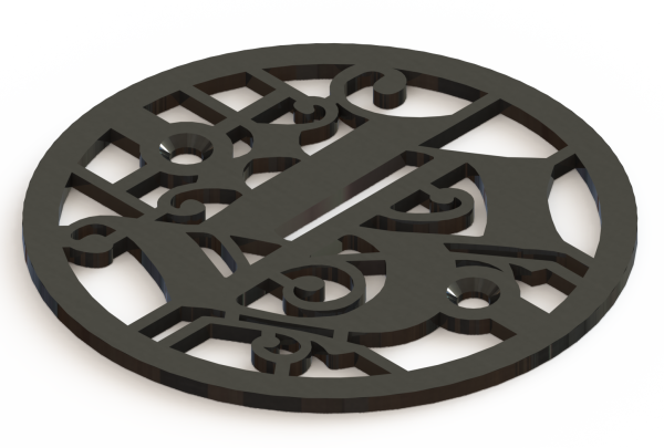 4.25in Custom Decorative Drain Cover Design - 1a1