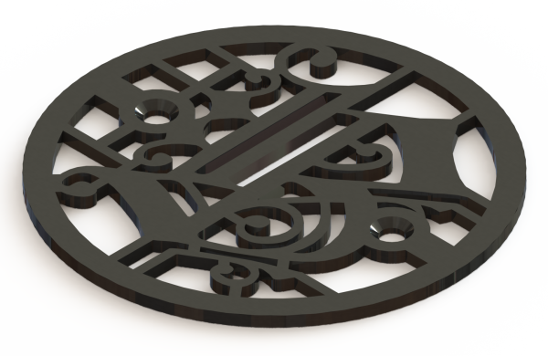 4.25in Custom Decorative Drain Cover Design - 1b1