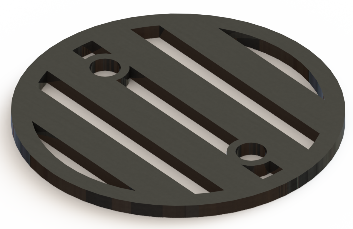 4.25in Custom Decorative Drain Cover Design - 3a