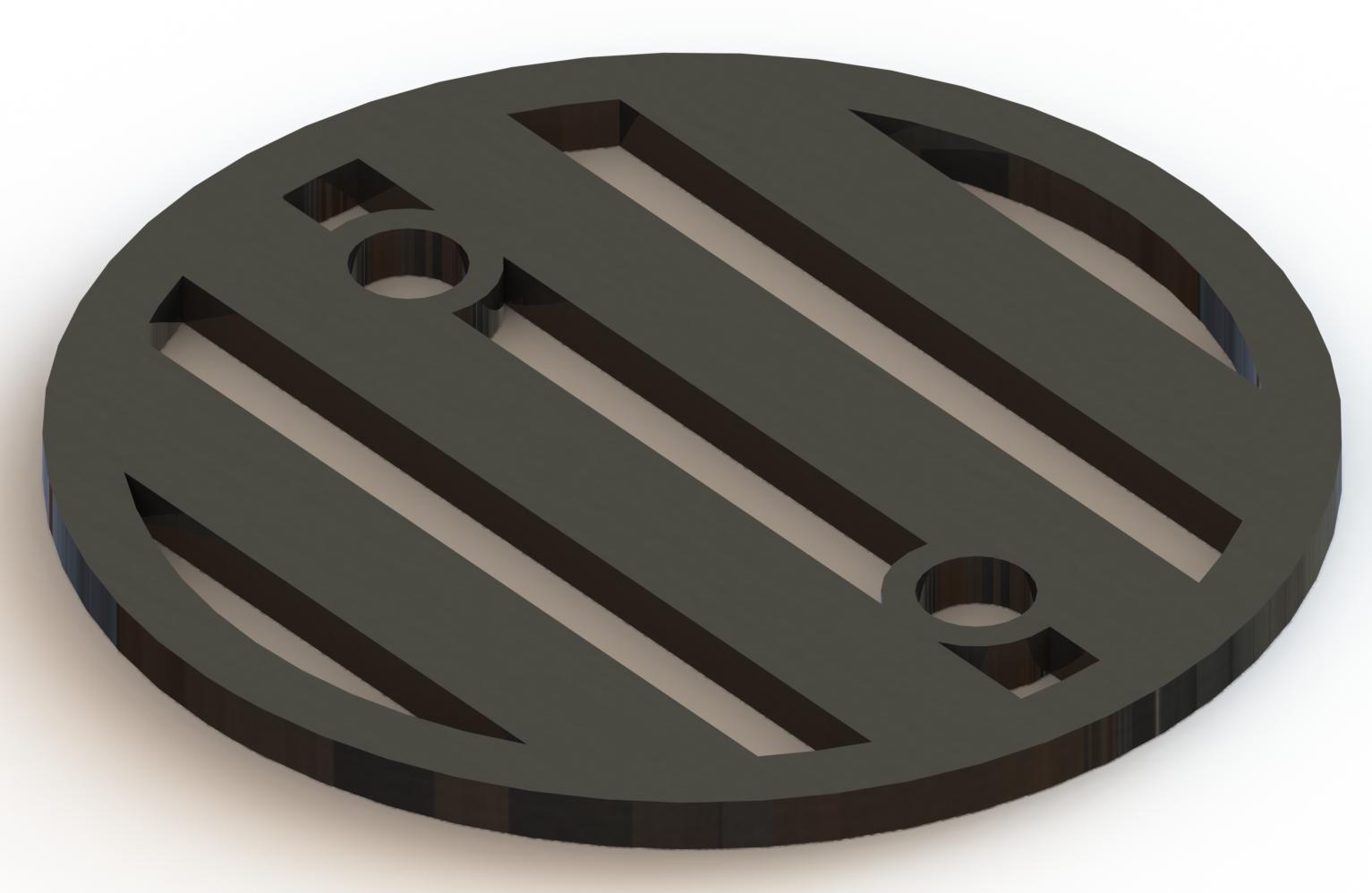 4.25in Custom Decorative Drain Cover Design - 3a