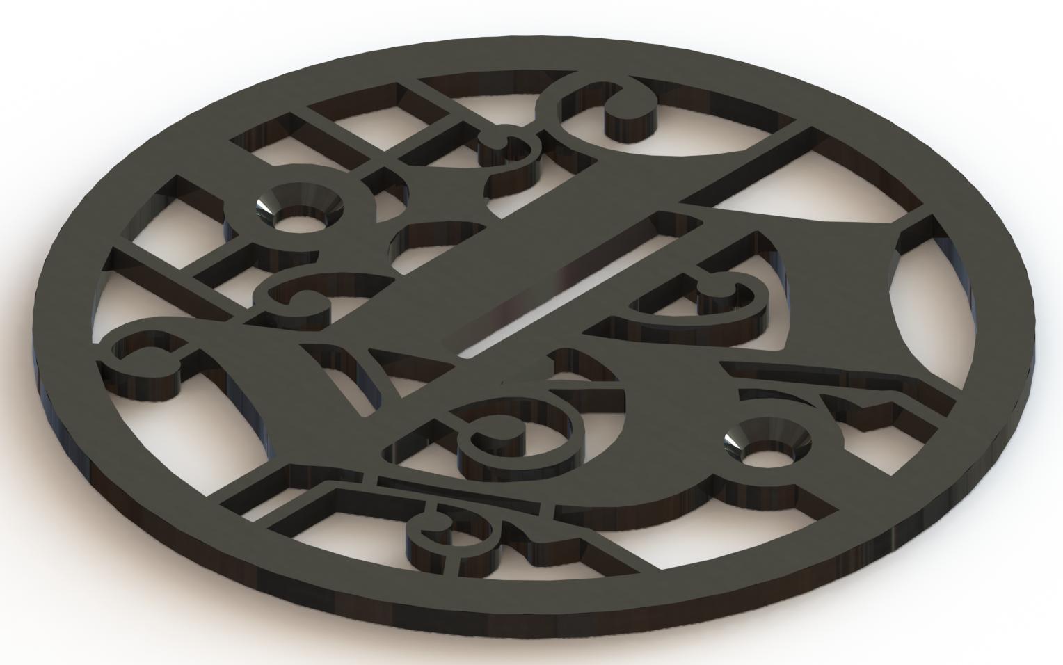 4.25in Custom Decorative Drain Cover Design - 5a1