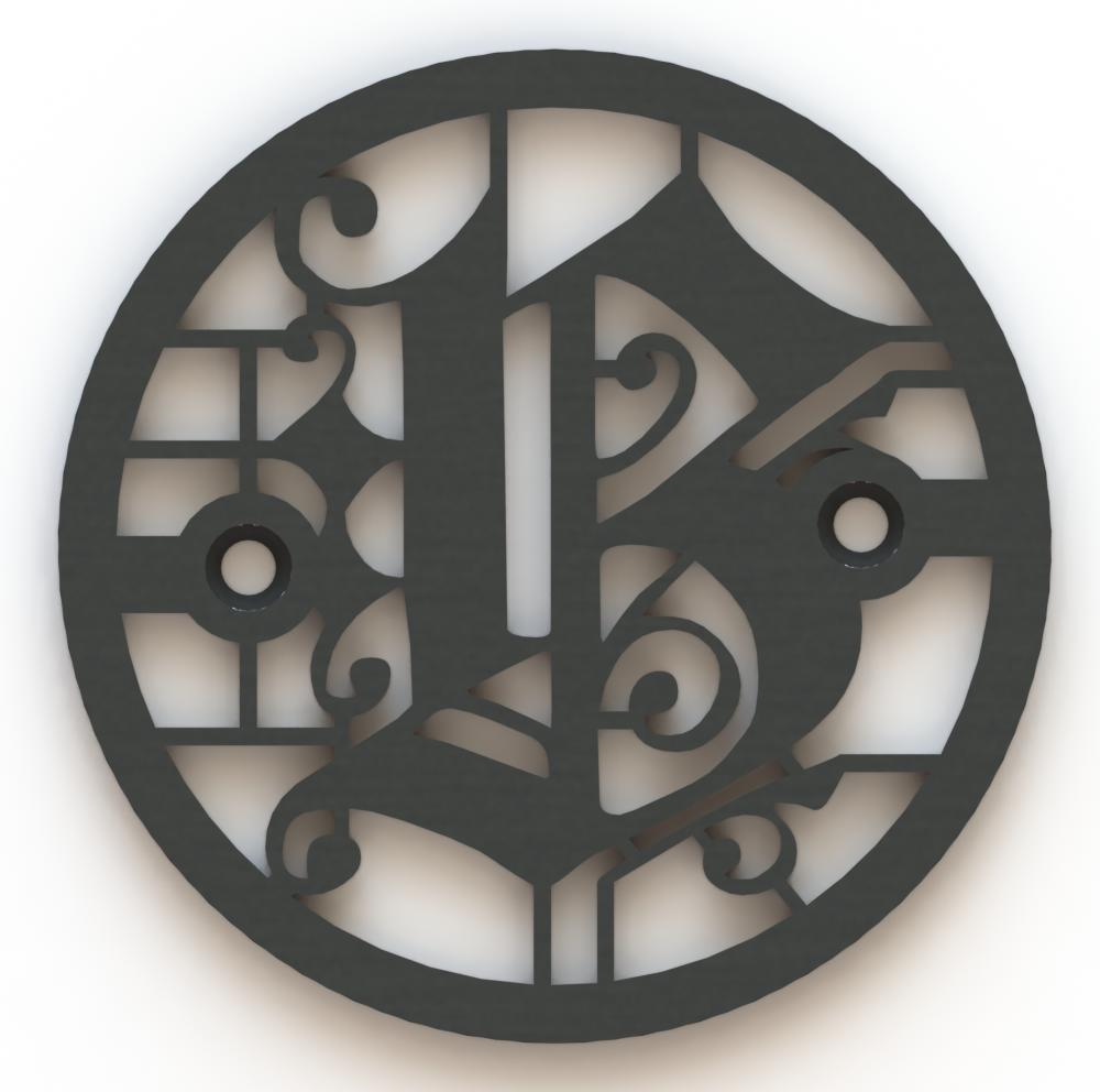 4.25in Custom Decorative Drain Cover Design - 5a2