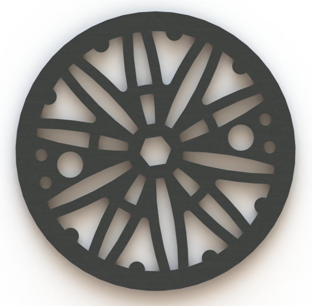 4.25in Custom Decorative Drain Cover Design - 6b