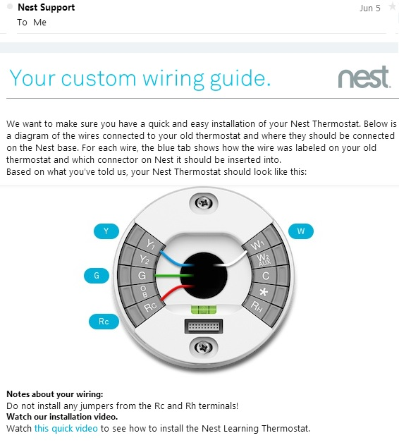 Nest Thermostat Wiring Schematic Wiring Solutions