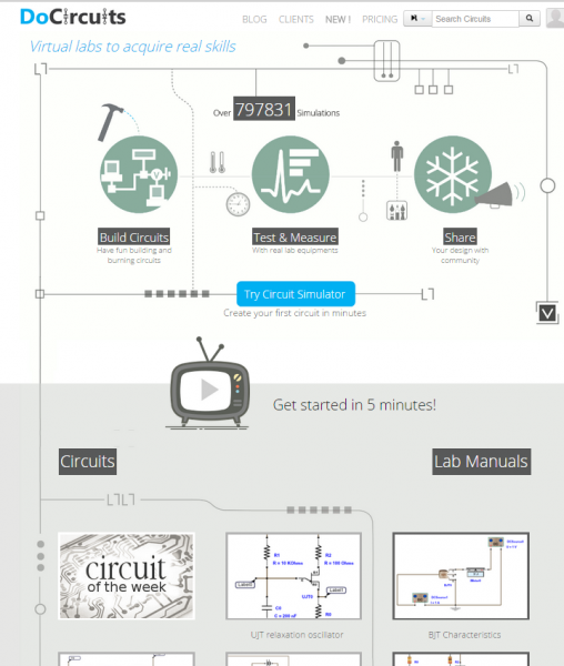 DoCircuit web page