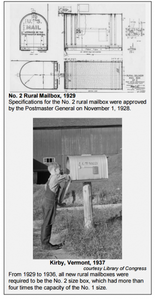 Large Rural Mailbox - From the USPS history of Mailbox Standards PDF