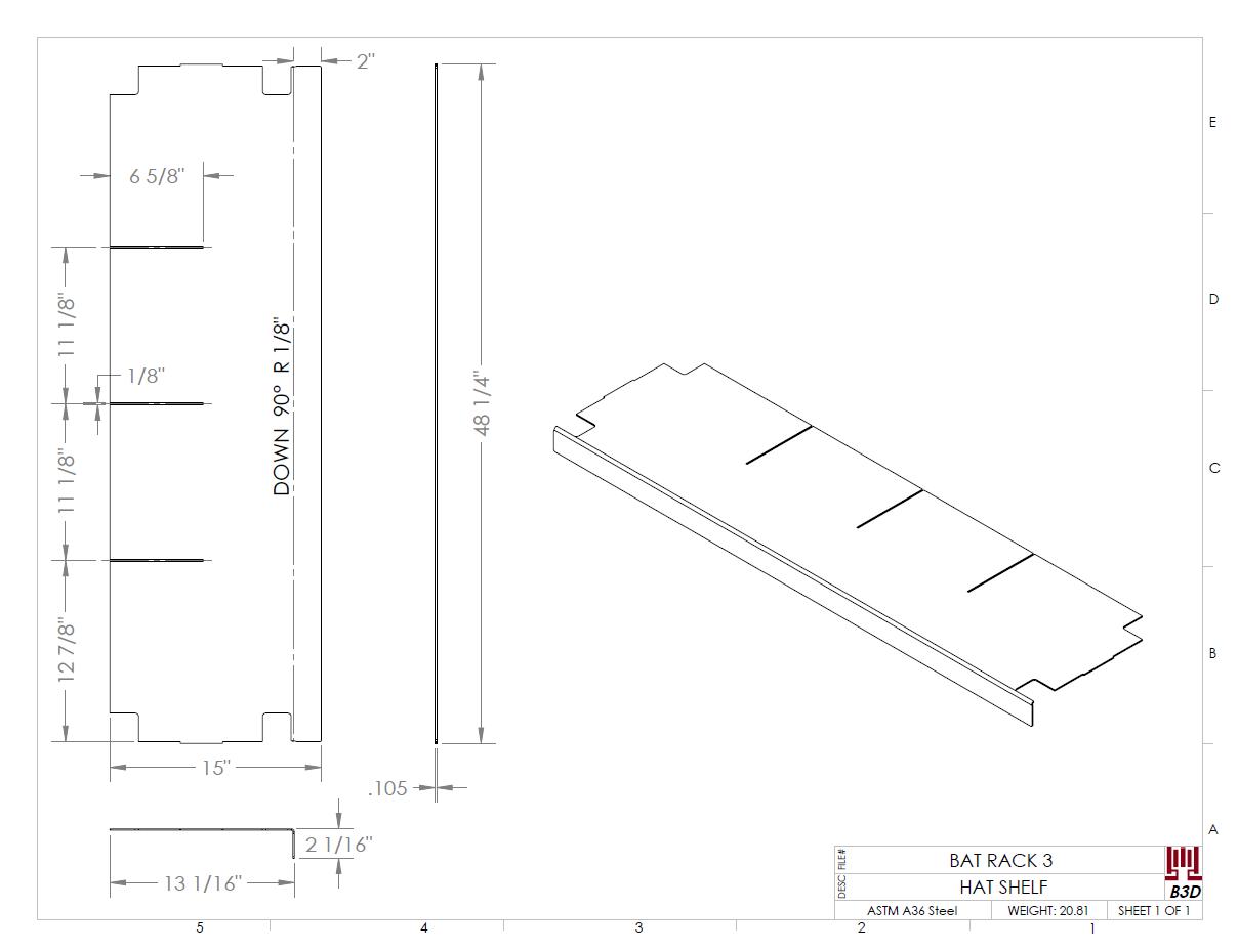 Fea Driven Design Changes Dugout Bat Rack Kris Bunda Design