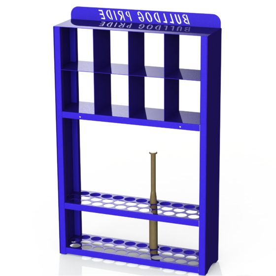 Rendering - Little League Dugout Baseball Bat and Helmet Rack 2 - Before Gussets