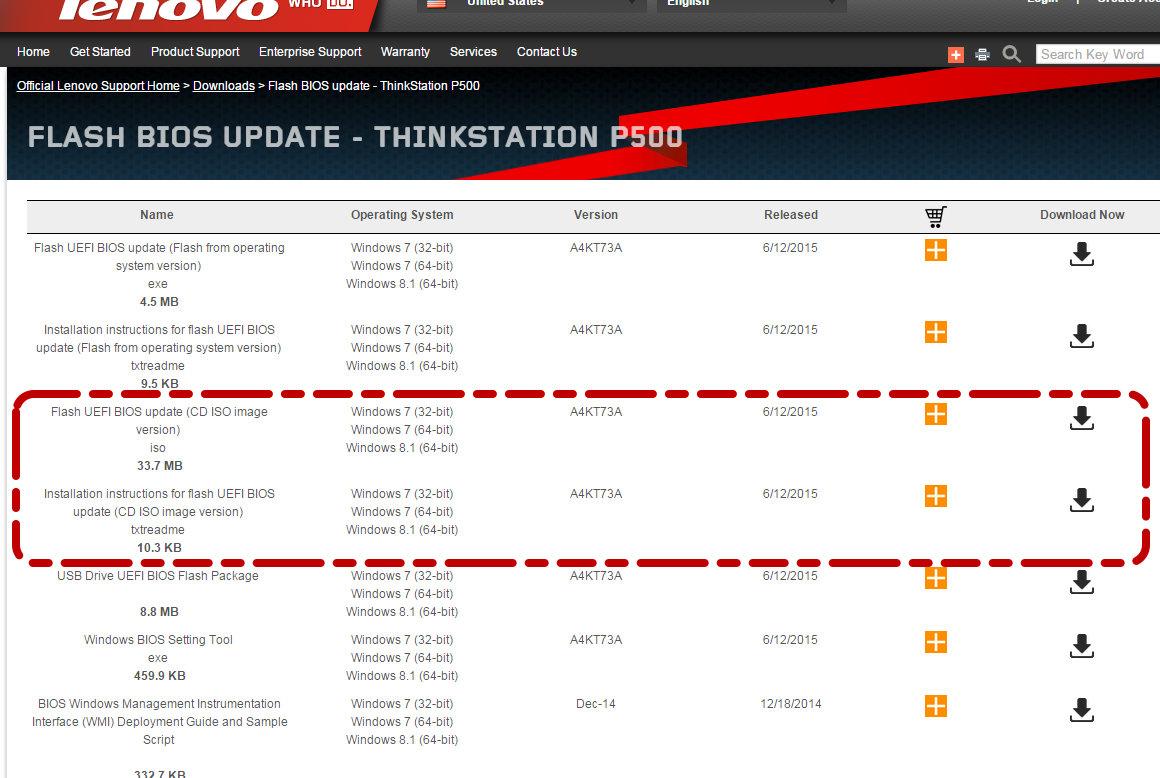 Finding Lenovo ThinkStation BIOS updates 2 | Kris Bunda Design