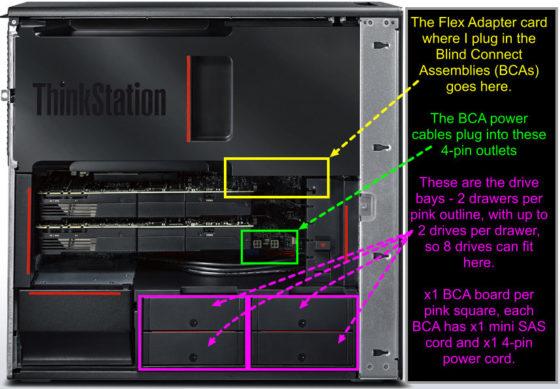 Lenovo tower Workstation ThinkStation P500 Blind Connect Drive Bays