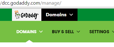 godaddy header logo that anti aliasing can help - close up