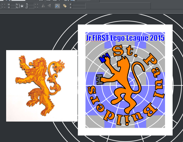 JR FIRST LEGO LEAGUE TEAM LOGO - GAME OF THRONES LION - GRAPHICS EDITING