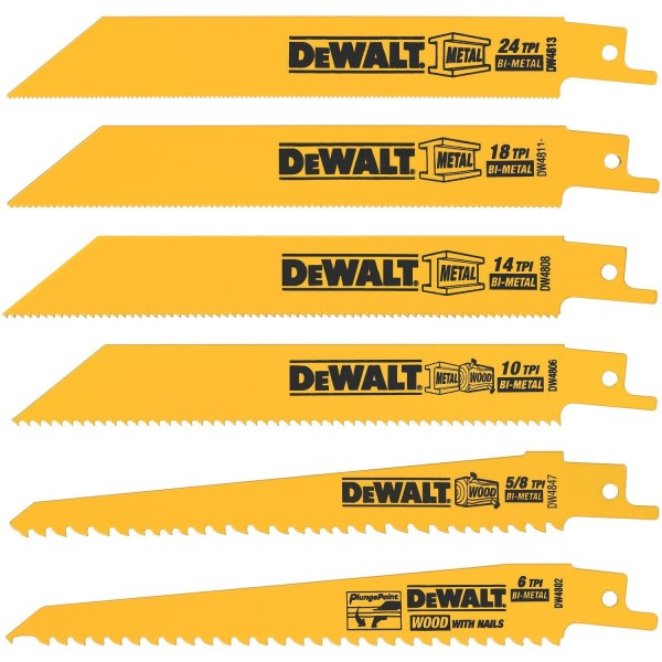 Reciprocating saw blades - For foam board, the small-toothed metal blades worked best for me