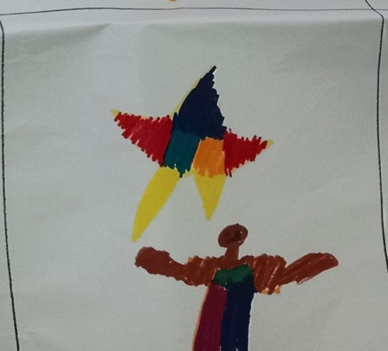 Team Fire Stars Logo Consensus: I was told the kids liked this star drawing.