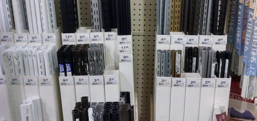 Shelf Standards at hardware store