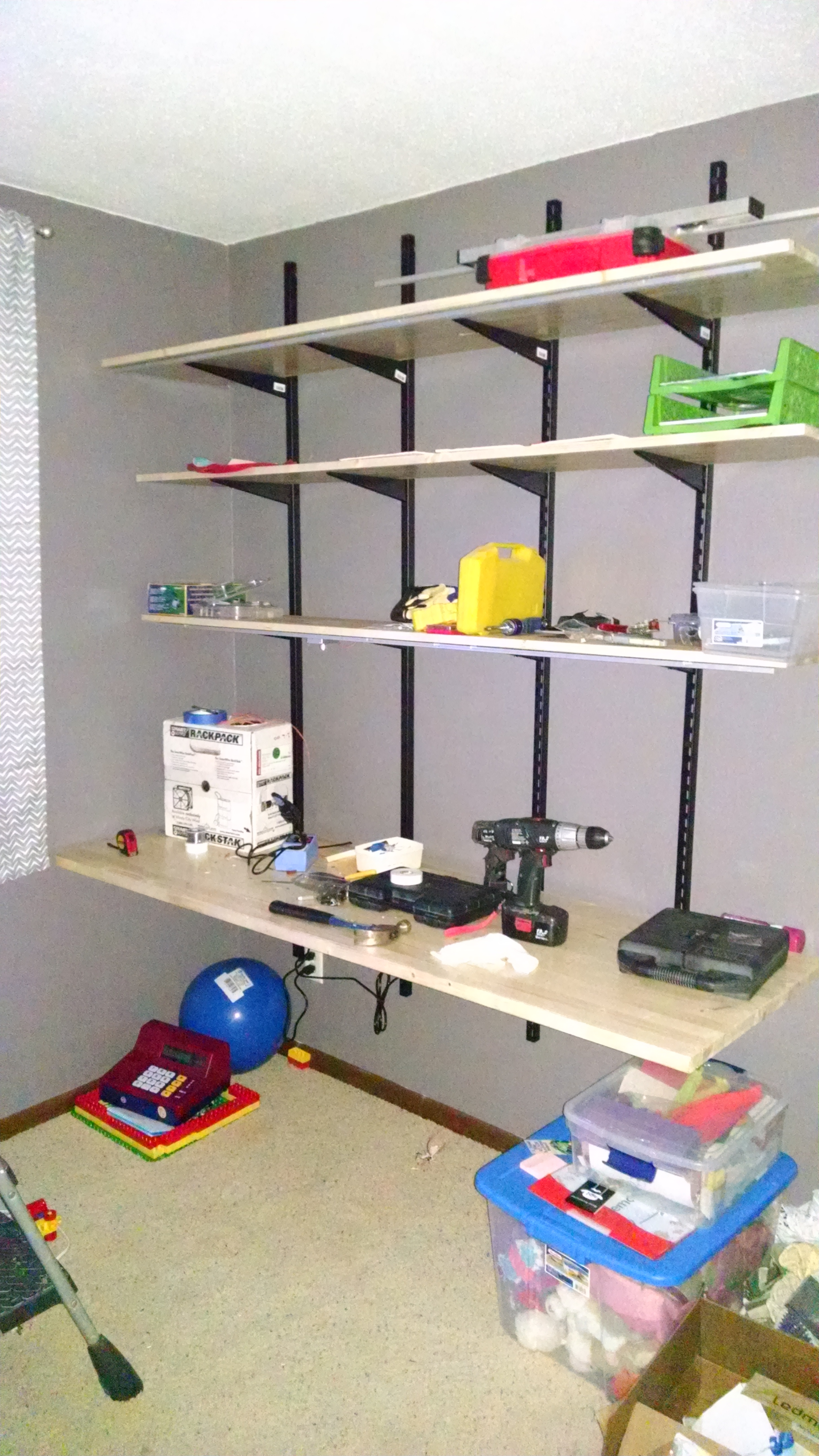 Pic Of Kids Shelf Bracket Desk With Led Strips In Aluminum Extrusions