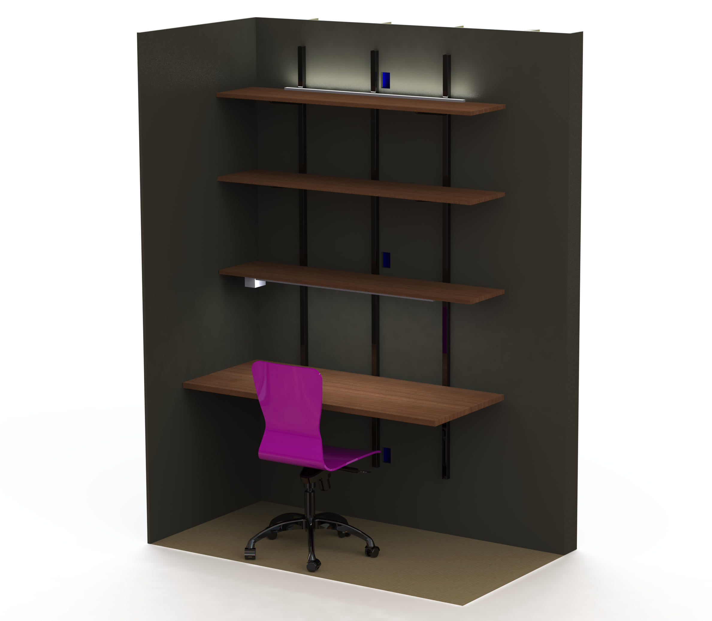 Holly Work Center Model Render With Pv360 Led Effects