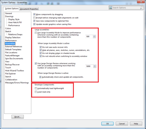 SolidWorks settings to correctly push Metadata into Composer BOMs 1