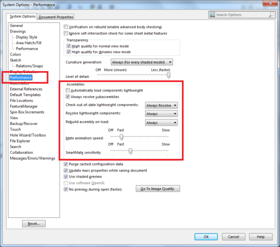 SolidWorks settings to correctly push Metadata into Composer BOMs 2