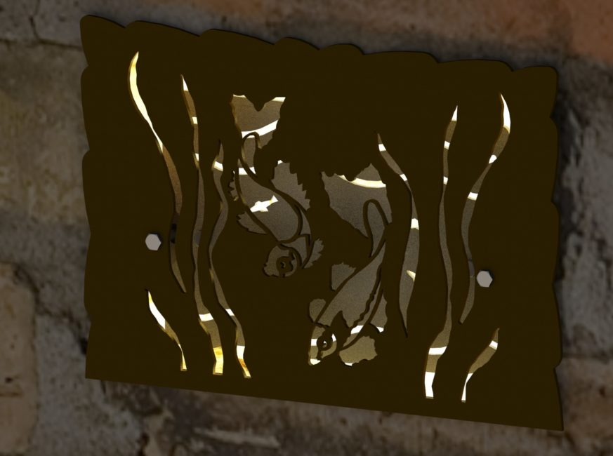 DECORATIVE KOI HARDSCAPE LIGHT SCREEN RENDER 1