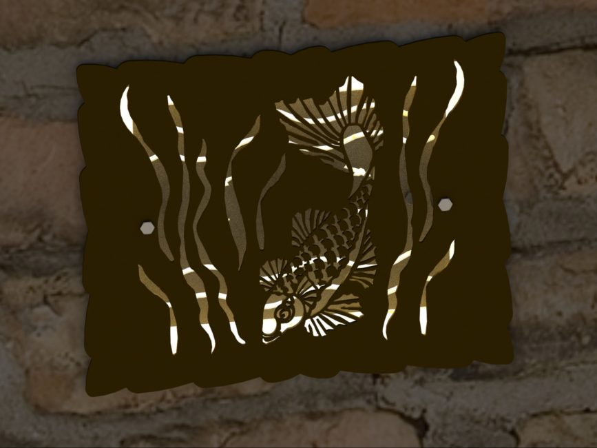DECORATIVE KOI HARDSCAPE LIGHT SCREEN RENDER 2