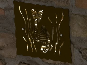 DECORATIVE KOI HARDSCAPE LIGHT SCREEN RENDER 3