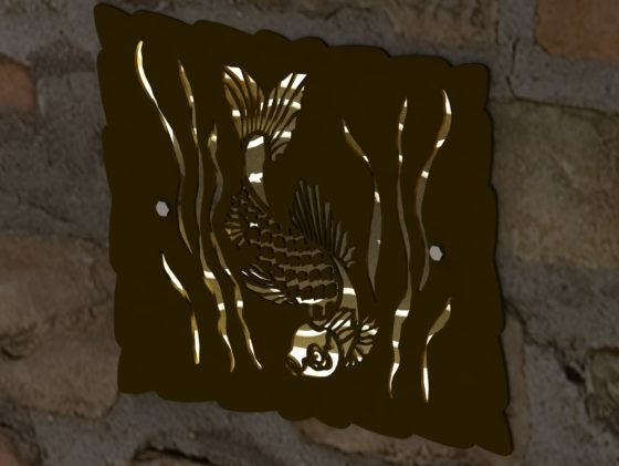DECORATIVE KOI HARDSCAPE LIGHT SCREEN RENDER 3