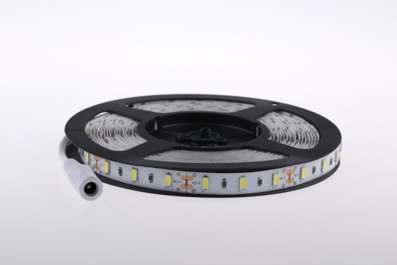 LED strip roll with barrel connector end - 5 meters reel