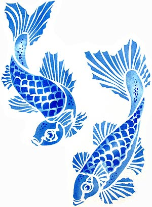 Unattributed Koi Carp Graphic, inspiration for steel light baffles