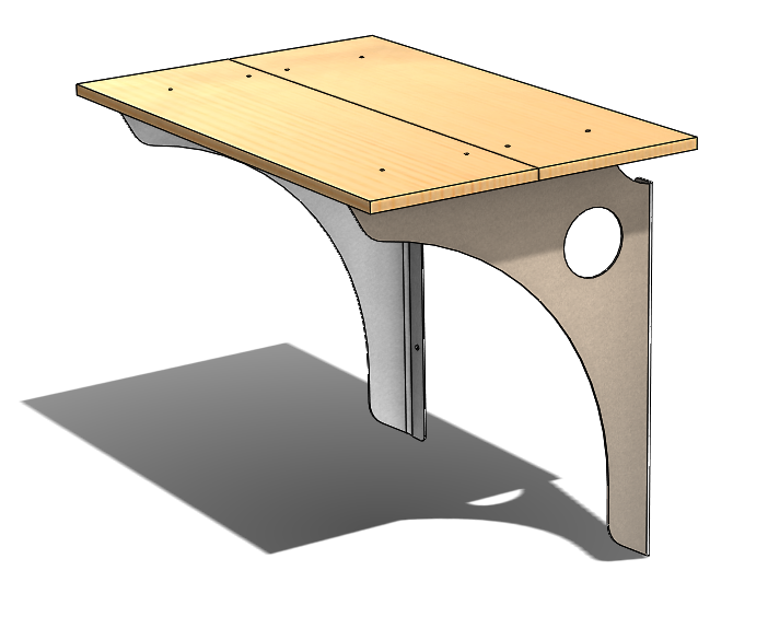 Stand Up Wall Mounted Desk Bracket 1