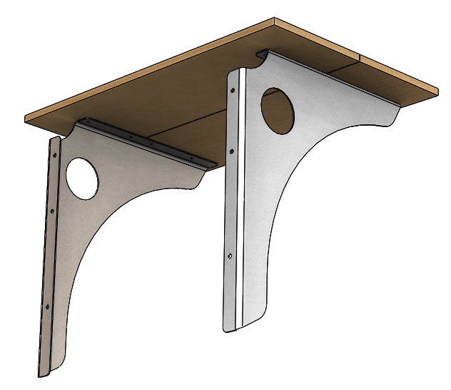 Stand Up Wall Mounted Desk Bracket 2