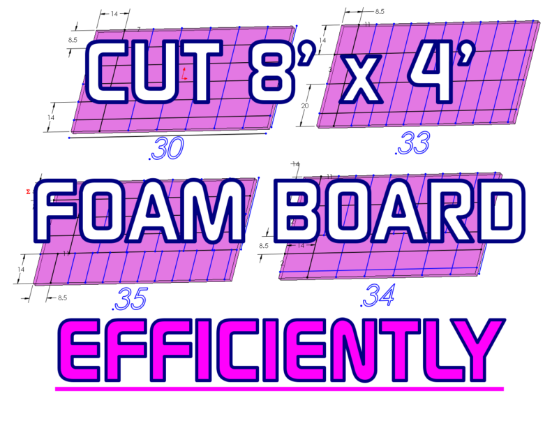 BAND SILL FOAM BOARD INSULATION - MOST EFFICIENT CUT OF 4FT X 8FT SHEET