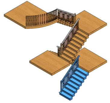 COPPER BRONZE STAIRCASE BALUSTERS CAD